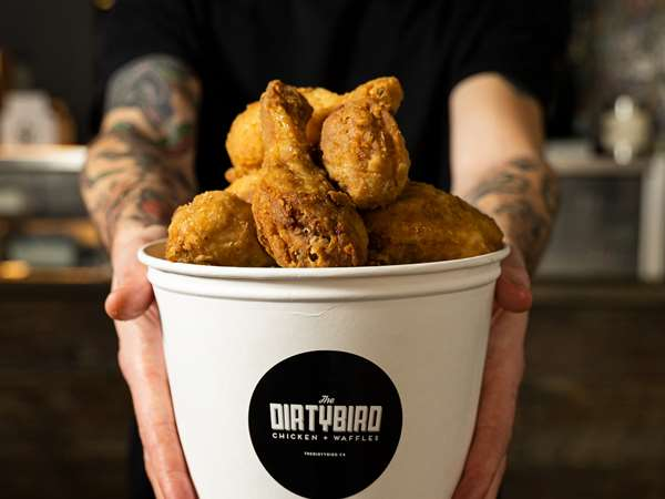The Dirty Bird Chicken & Waffles #Northerfried 3 Kensington Ave Toronto On Canada